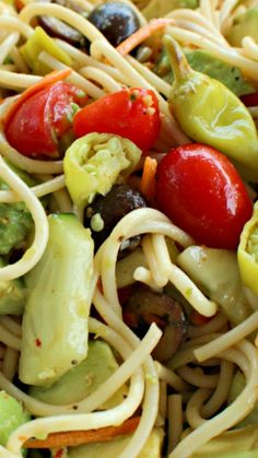 Spaghetti Salad ~ A perfect salad to take on a picnic or to a BBQ.