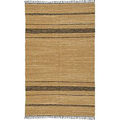 Hand-woven Black and Tan Leather Chindi Rug (2'5 x 4'2) - Overstock™ Shopping - Great Deals on St Croix Trading Accent Rugs