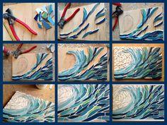Felicity Ball mosaics: How I made a wave mosaic