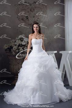 Robe de mariée princesse élégant  A-ligne en Satin Col en cœur http://www.isabellademariage.com/Robe-de-mariée-princesse-élégant-A-ligne-en-Satin-Col-en-cœur-p20176.html