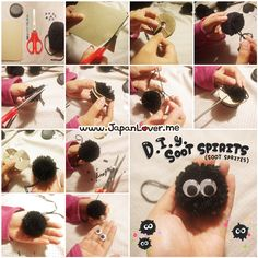 japanloverme:  Hello Kawaii JapanLovers! ☆ミ(o*・ω・)ノHere's a super fun & easy DIY Soot Sprites Tutorial for all Studio Ghibli fans! http:...