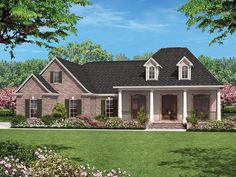 Ranch Home Plan with 1500 Square Feet and 3 Bedrooms from Dream Home Source   House Plan Code DHSW077578