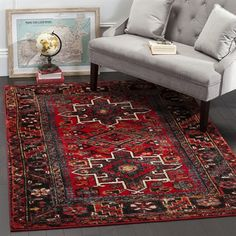 Safavieh Area Rug VTH211A Vintage Hamadan Red/Multi Indoor