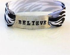Believe Hand Stamped Stretchy Bracelet - Edit Listing - Etsy
