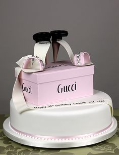 Gucci Shoe Box Design - Robineau Patisserie - Wedding cake designers, confectioners & chocolatiers