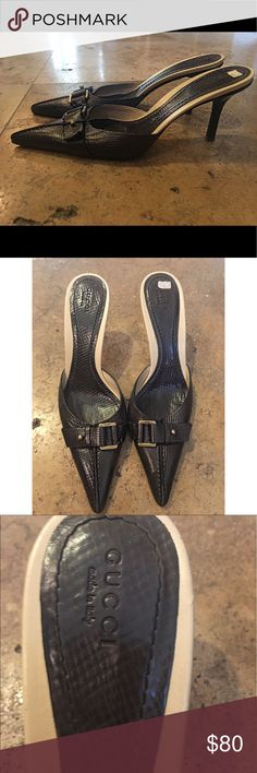 Gucci Heels - Vintage 💋 Beautiful Gucci Pointed Toe Heels - Vintage Gucci Shoes Heels