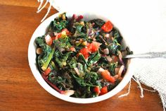 Sauteed Kale and Beet Leaves (Gluten Free, Paleo)