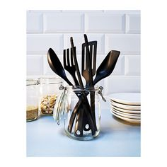 GNARP 5-piece kitchen utensil set IKEA Gentle to pots and pans with non-stick coating.