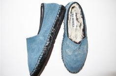Lika Mimika leather and rabbit fur espadrilles.