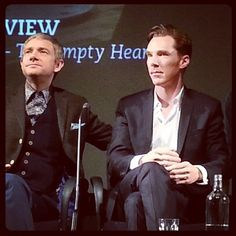 """""""Benedict and Martin looking foxy at the Sherlock premiere."""" I love the use of the word 'foxy', so I had to keep it!"""