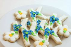Custom Letter and Number Cookies