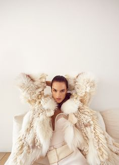 Alessandra Ambrosio | Fur Fashion Editorial | Vogue Portugal Cover
