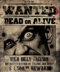 Pin By Tom Allmon On W  Wanted PosterS