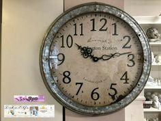 Werner Voss Decor London Clock Wall Clock Rustic Shabby Wall Clocks Ebay Link In 2020 Rustic Wall Clocks Retro Wall Clock Clock