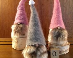 mr and mrs gnome set of two tomtetomte by gnomes4theholidays