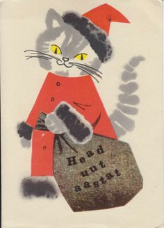 Estonian New Year postcard by artist L.Härm, 1966