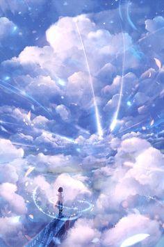 The art of animation, 防 人 random anime scenery. Anime Artwork, Fantasy Artwork, Anime Body, Anime Pokemon, Anime Plus, Anime Galaxy, Wow Art, Image Manga, Scenery Wallpaper