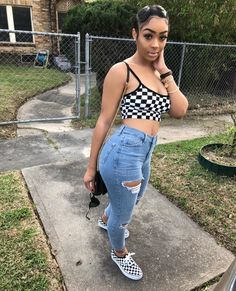 date casual outfit Dope Outfits, Swag Outfits, Trendy Outfits, Summer Outfits, Girl Outfits, Fashion Outfits, Ghetto Outfits, Teenage Outfits, Summer Wear