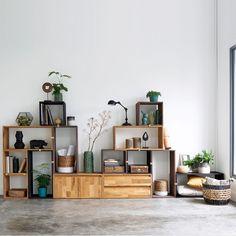 Étagère rangement 2 tiroirs, chêne massif, edgar chêne La Redoute Interieurs | La Redoute Mobile