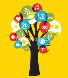 Vector Art: Social media networks tree