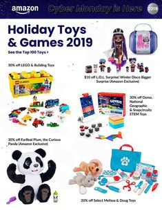 Amazon Cyber Monday Ad Scan, Deals and Sales 2019 The Amazon 2019 Cyber Monday ad is here! Be sure to subscribe to our newsletter to receive emails about all the latest Cyber Monday news and ad leaks ... #cybermonday #amazon Bear Cubs, Panda Bear, Cyber Monday Ads, Monday News, Amazon Black Friday, Lego Building, National Geographic, Lol, Comics