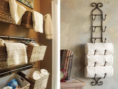 Creative storage solutions for small bathrooms 2 Creative Bathroom Storage Ideas, Bathroom Ideas, Bathroom Renovations, Household Items, Storage Solutions, Storage Spaces, Shelving, Home Goods, Home Improvement