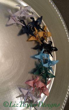 Origami Crane Earrings - Paper Crane Earrings - Peace Crane - Bridal Shower Gifts - Origami Earrings - Lucky Cranes - Tiny Paper Cranes #origamicranes