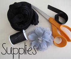 Nylon Baby Headband with Flower Clip TUTORIAL - Crafts, DIY, Tutorials - Little Miss Momma