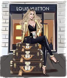 Login Fashion illustration for beautiful model