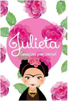 Kit imprimible de cumpleaños Frida Kahlo. Invitación por CumpleKits