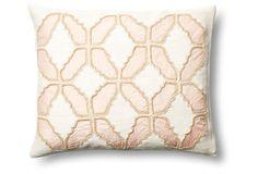 Baroque 16x20 Cotton Pillow, Blush