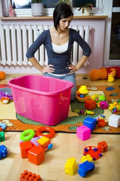 """And who will clean up this mess? """"A step-by-step guide explaining why and how to establish a toy rotation system in your home- written for every parent who has ever wondered what to do with their kid's toys or why their kids seem bored at home. Declutter Your Home, Organize Your Life, Clean Out, Bored At Home, Home Management, Toy Organization, Organizing Toys, Organizing Ideas, Home Hacks"""
