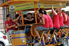 Germany is trying to ban these beer bikes.  Aww...party poopers :)