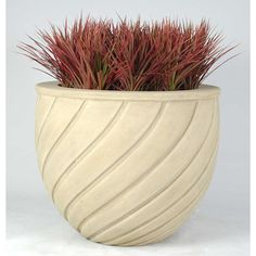 "Allied Molded Products Venus Round Pot Planter Color: Evening Shadows, Size: 16"" H x 20"" W x 15"" D"