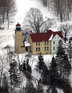This lighthouse is located at the Beaver Head on the southern end of Beaver Island which was built in 1858, decommissioned in 1962. During the summer months from 8 am to 9 pm, you can climb the tower and view the beautiful waters below.