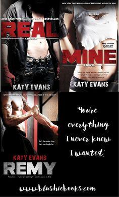 @blushiebooks #sexyseries REAL, MINE, REMY by Katy Evans. Book Boyfriend: Remington Tate!!!