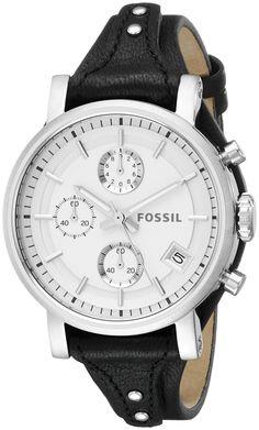 Amazon.com: Fossil Women's ES3817 Original Boyfriend Analog Display Analog Quartz Black Watch: Watches