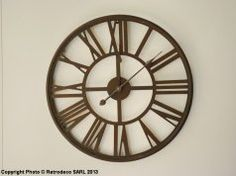 Horloge usine antique, déco atelier, Antic Line  #horloge #anticline