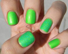 Neon green with Nail-Venturous Floam