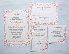 Invitaciones rosa y oro #bodas #wedding