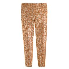 J.Crew - Collection caf capri in gilded jacquard