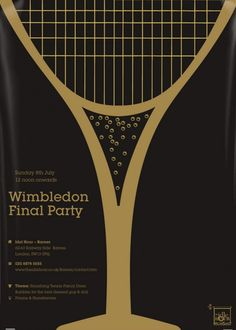 Tennis - Creative Wimbledon Final Party Poster by Anton Burmistrov