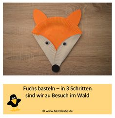 Fuchs basteln Making a fox – DIY / crafting ideas for children – In this crafting idea the crafting raven shows you how to make a fox out of a paper plate in just 3 steps. Have fun visiting in the forest. Diy Projects For Kids, Diy For Kids, Quilt Making, Handicraft, Fabric Crafts, Diy And Crafts, Have Fun, Weaving, Stationery
