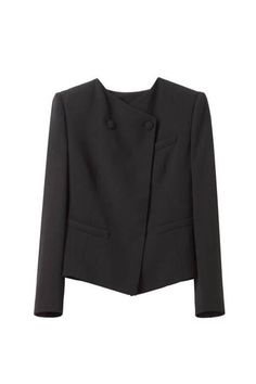 Girl by #BandOfOutsiders cropped collarless jacket