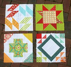 Summer Sampler Series blocks by freshlypieced