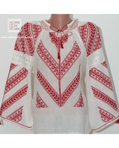 delicate Romanian blouse embroidered by hand in Oltenia area. It takes 3 weeks to complete the embroidery for this traditional blouse. Peasant Blouse, Blouse Dress, Visit Romania, Folk Costume, Embroidered Blouse, Fabric Art, 3 Weeks, Traditional Outfits, Bohemian Style