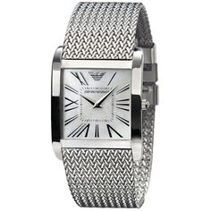 Emporio Armani Watches AR2015 Ladies Silver Stainless Steel Watch.