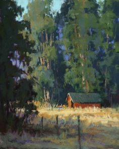 Nestled in Sonoma  Pastel on On Archival Paper  20 x 16
