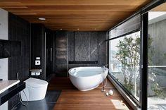 Dark Zen Modern Bathroom Design
