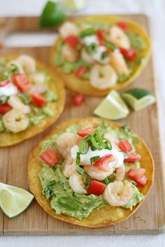 Frugal Food Items - How To Prepare Dinner And Luxuriate In Delightful Meals Without Having Shelling Out A Fortune Shrimp Avocado Tostadas Seafood Dishes, Seafood Recipes, Mexican Food Recipes, Cooking Recipes, Healthy Recipes, Healthy Appetizers, Shrimp Recipes For Dinner, Easy Cooking, Yummy Recipes